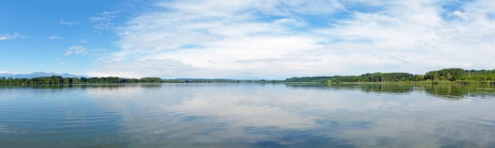 Panorama lago Candia